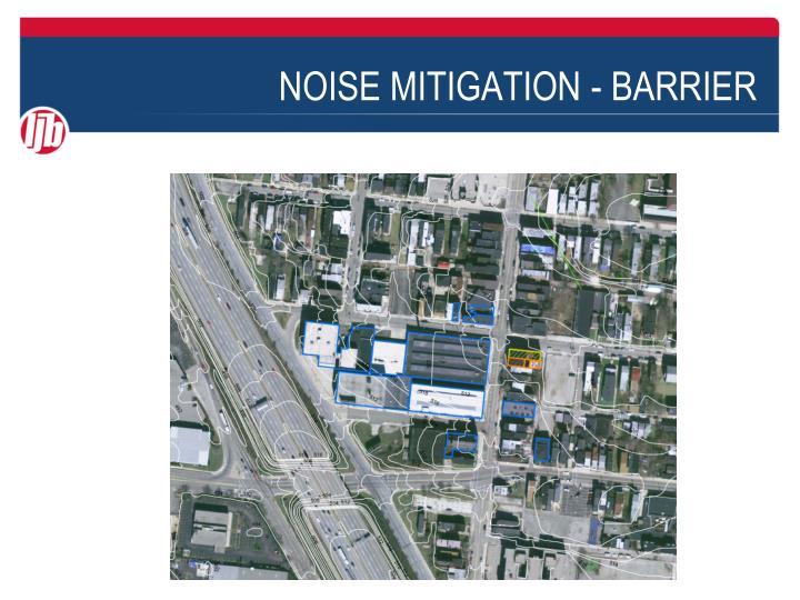 Noise mitigation barrier2