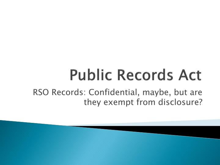 public records act n.