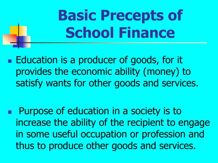 Basic Precepts of