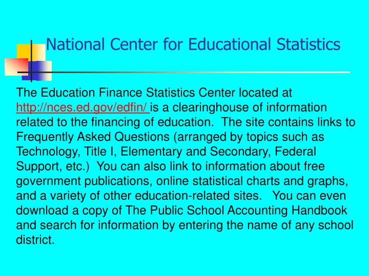 National Center for Educational Statistics