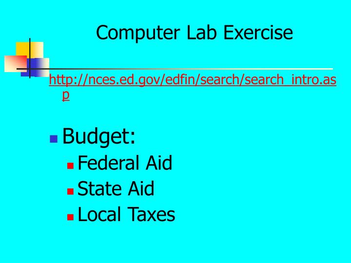 Computer Lab Exercise