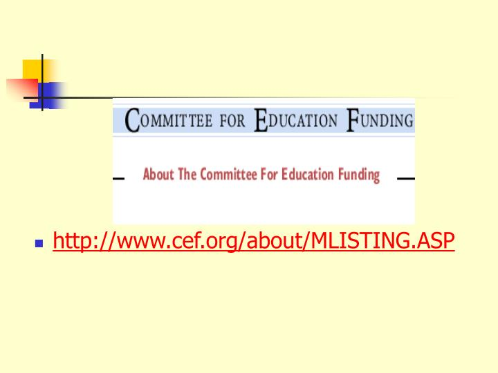 http://www.cef.org/about/MLISTING.ASP