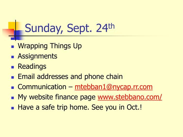 Sunday, Sept. 24