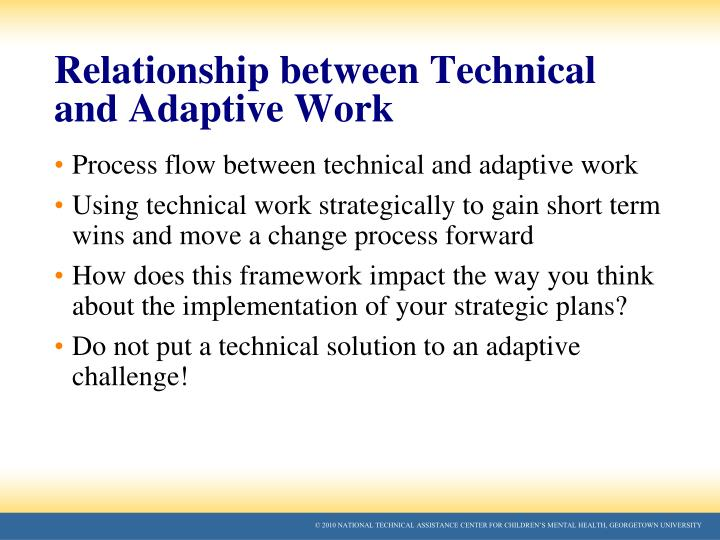 Relationship between Technical and Adaptive Work