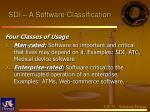sdi a software classification