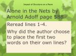 alone in the nets by arnold adoff page 588