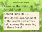alone in the nets by arnold adoff