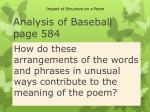 analysis of baseball page 584