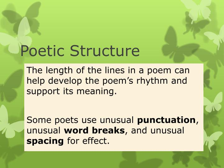 poetic structure n.