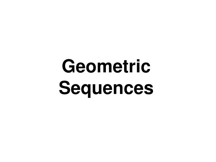 geometric sequences n.