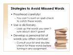 strategies to avoid misused words