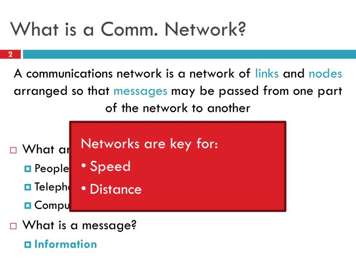 What is a comm network