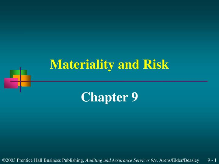 materiality and risk n.