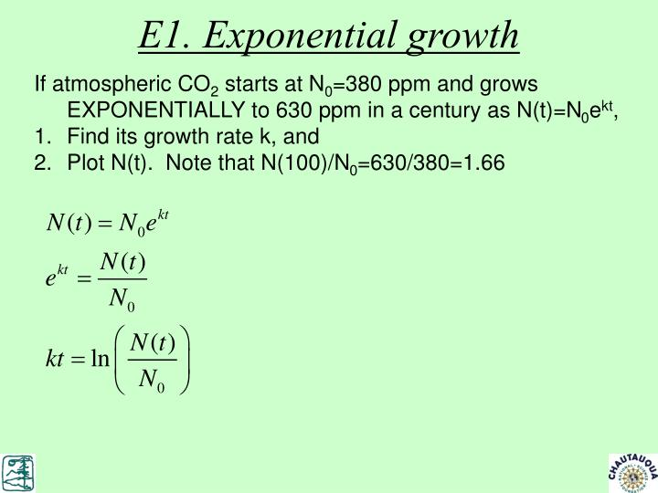 E1. Exponential growth