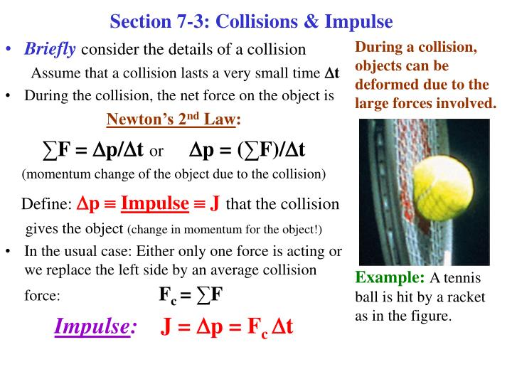 Section 7 3 collisions impulse