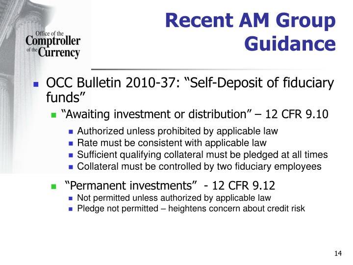 Recent AM Group Guidance