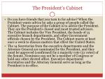 the president s cabinet
