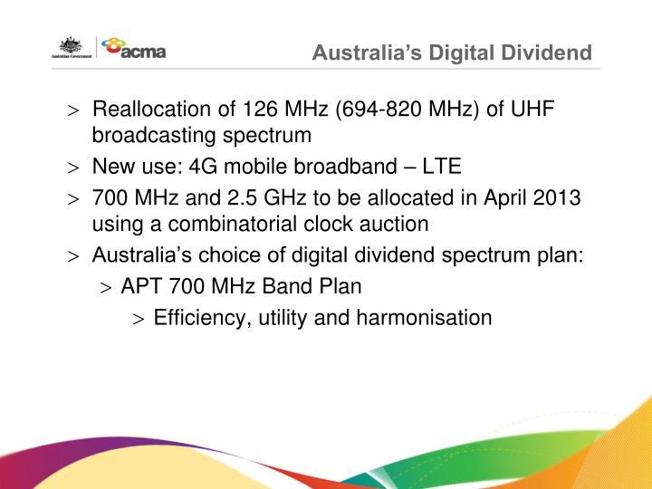 Australia's Digital Dividend