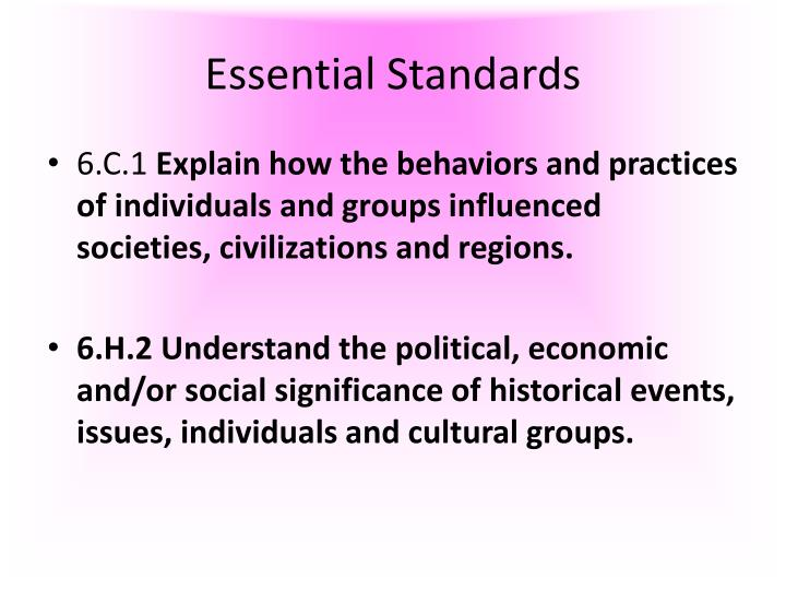 Essential standards