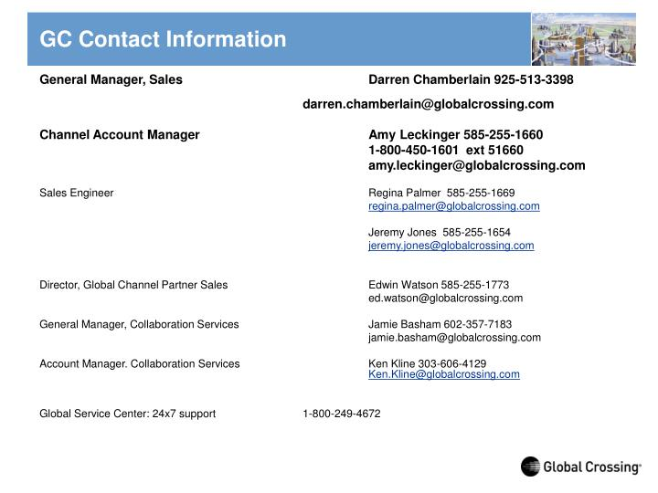 GC Contact Information