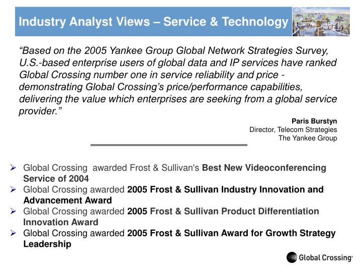 Industry Analyst Views – Service & Technology