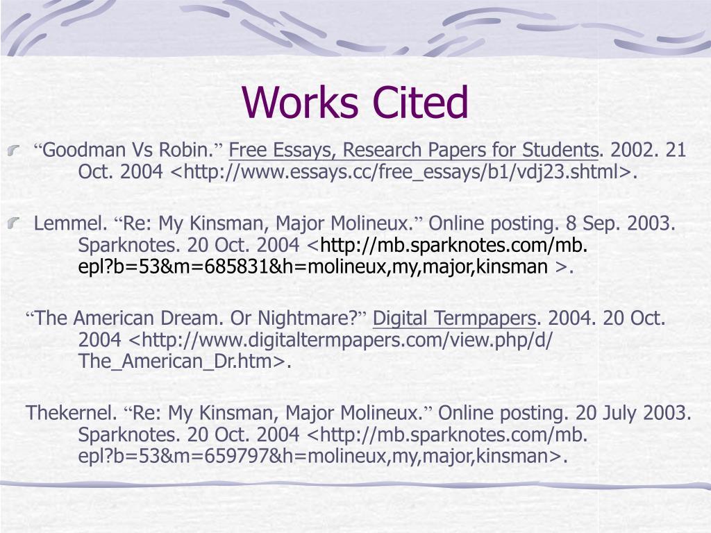 PPT - My Kinsman, Major Molineux PowerPoint Presentation