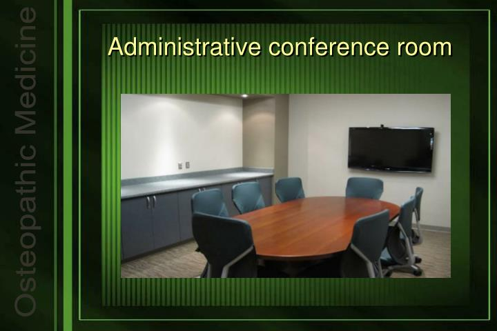Administrative conference room