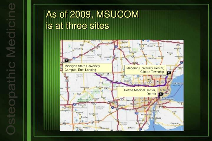 As of 2009 msucom is at three sites