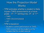 how the projection model works