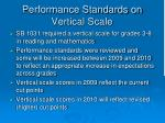 performance standards on vertical scale