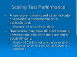 scaling test performance
