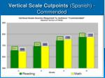 vertical scale cutpoints spanish commended