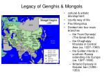 legacy of genghis mongols