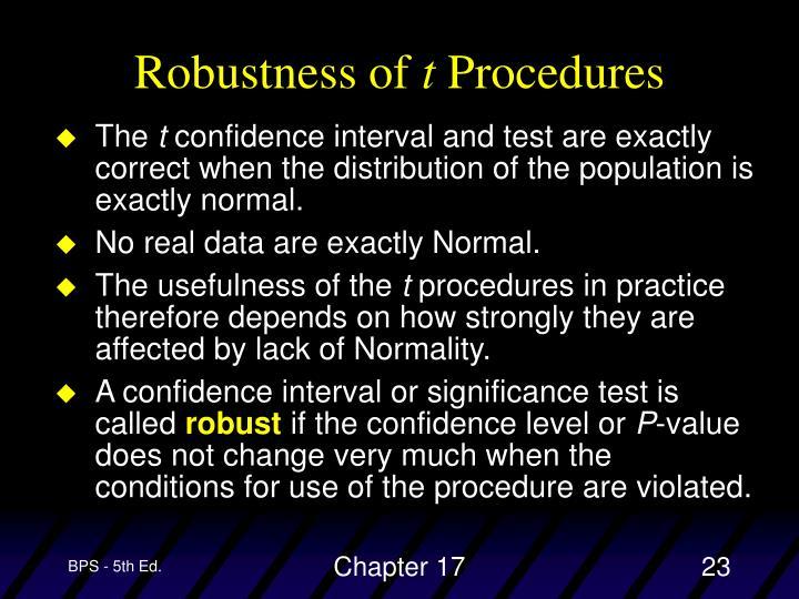 Robustness of