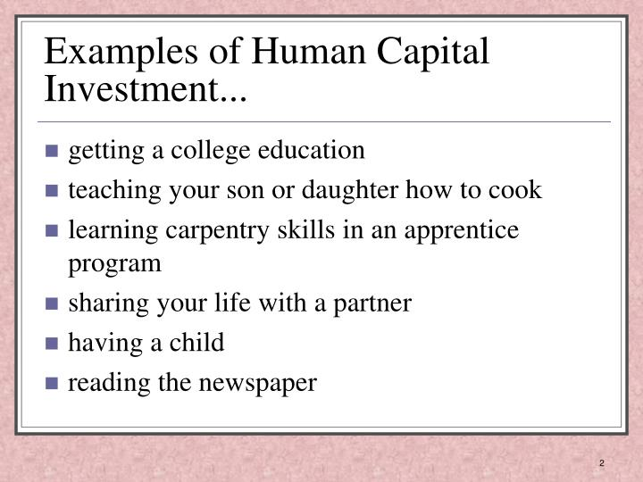 ppt - human capital investment - powerpoint presentation - id:5763647