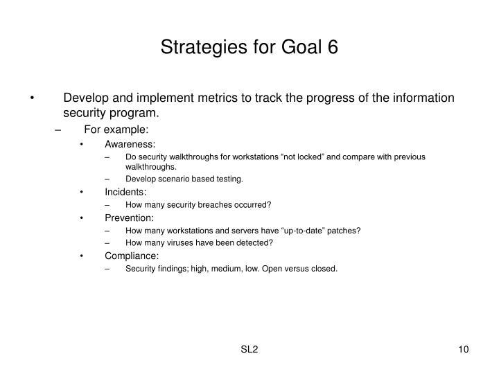 Strategies for Goal 6