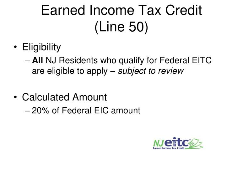 Earned Income Tax Credit (Line 50)