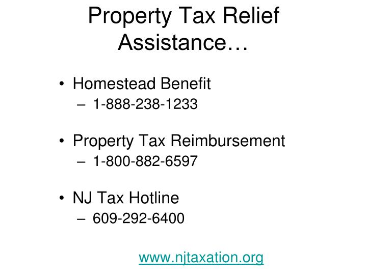 Property Tax Relief Assistance…