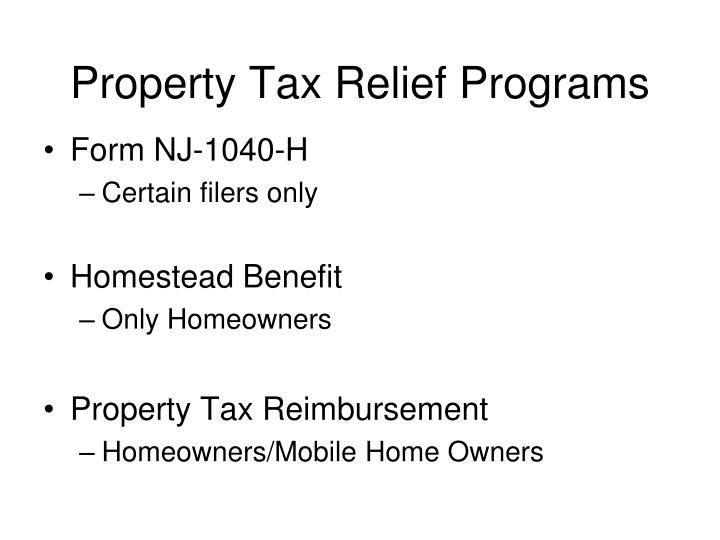 Property Tax Relief Programs