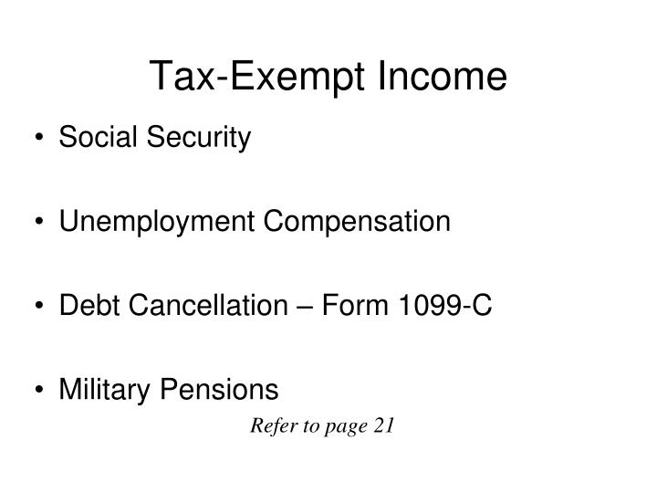 Tax-Exempt Income