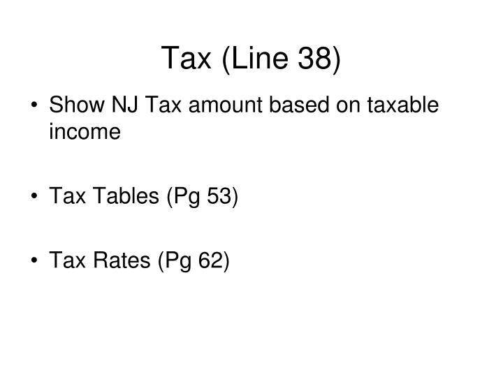 Tax (Line 38)