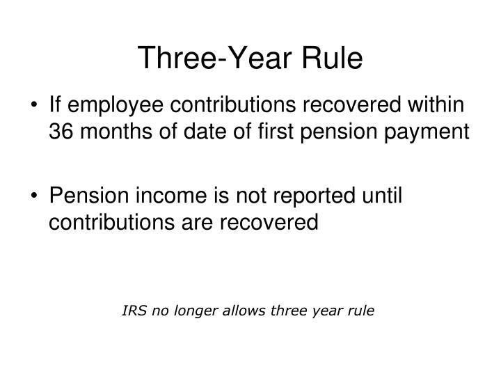 Three-Year Rule