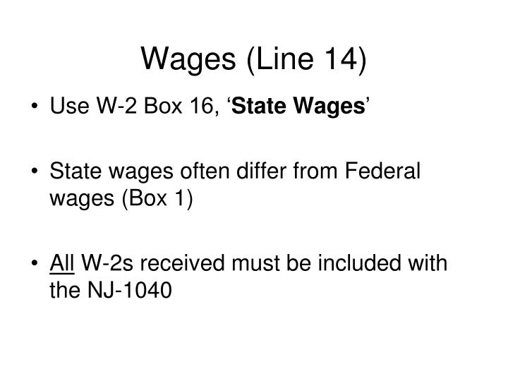 Wages (Line 14)