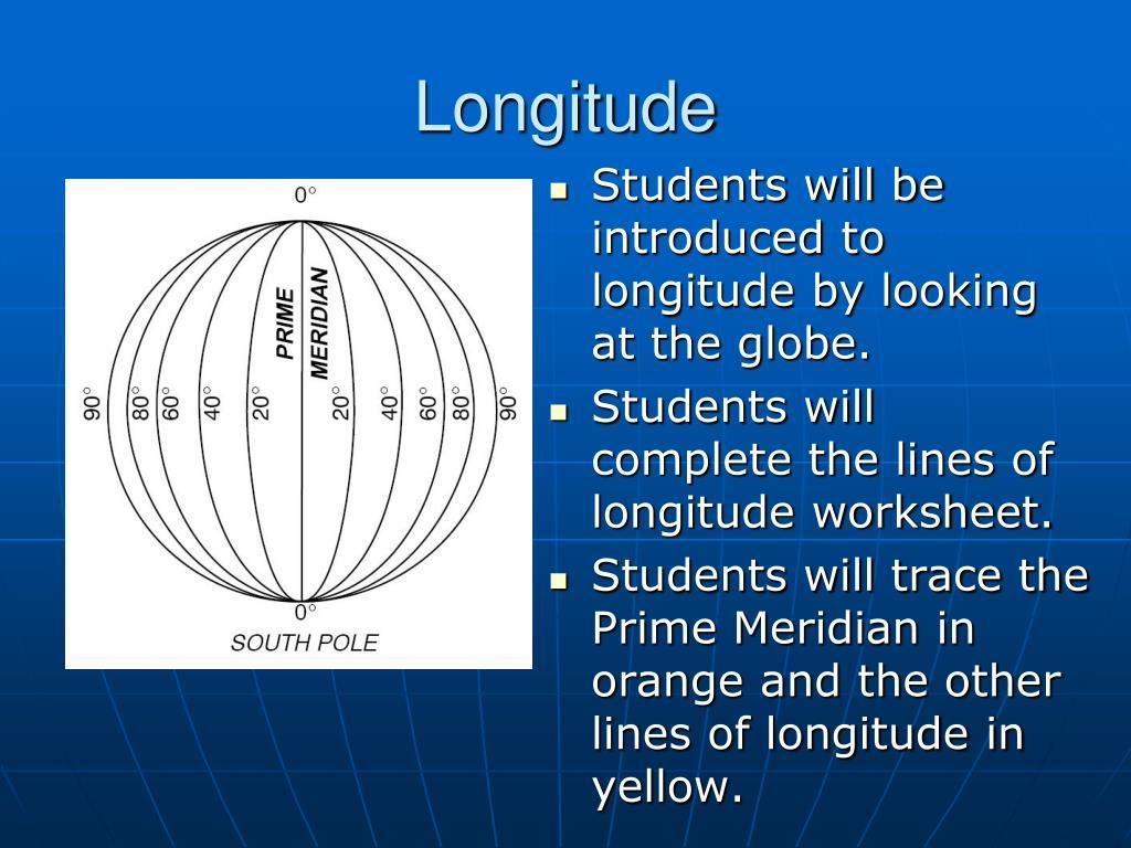PPT - Longitude and Latitude PowerPoint Presentation - ID