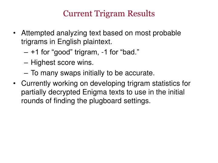 Current Trigram Results