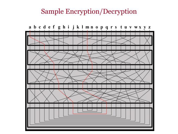 Sample encryption decryption