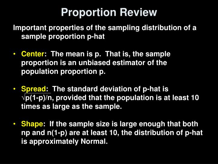 Proportion Review
