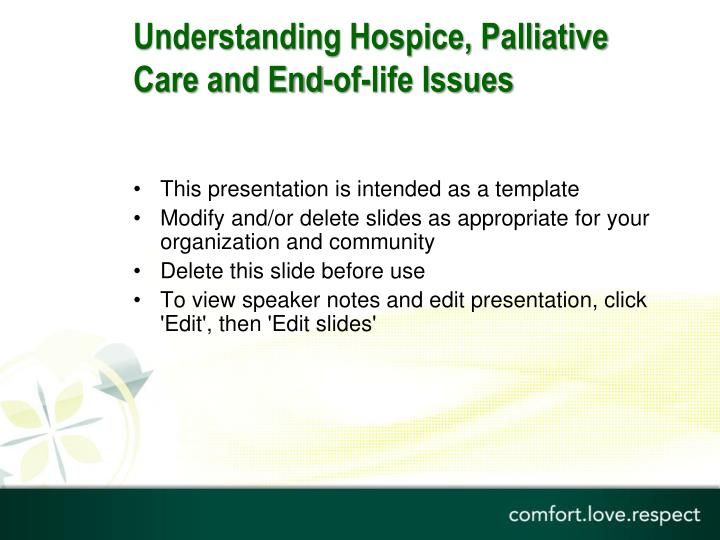 understanding hospice palliative care and end of life issues n.