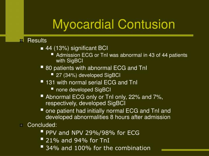 Myocardial Contusion