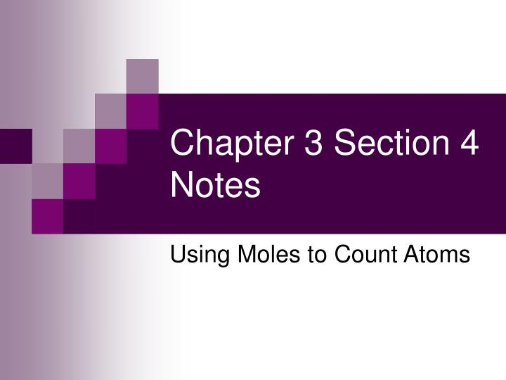 chapter 3 section 4 notes n.